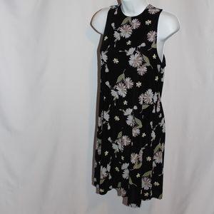 Vintage 90's Floral Skater Dress size Medium M